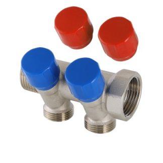Коллектор с регулирующими вентилями и комплектом ручек Valtec (VTc.560.NE)