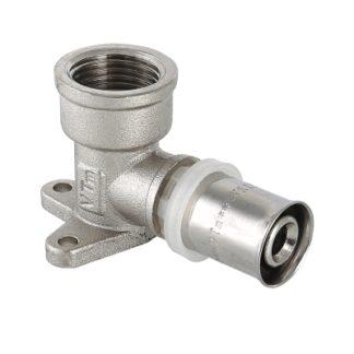Пресс-фитинг – угольник с креплением (водорозетка) Valtec (VTm.254.N)