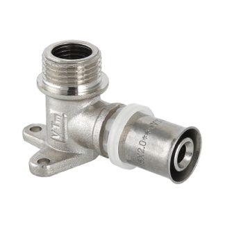 Пресс-фитинг – угольник с креплением (водорозетка) с наружной резьбой Valtec (VTm.255.N)