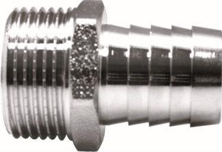 Штуцер для присоединения шланга никелированный Euros (EU.ST3040)