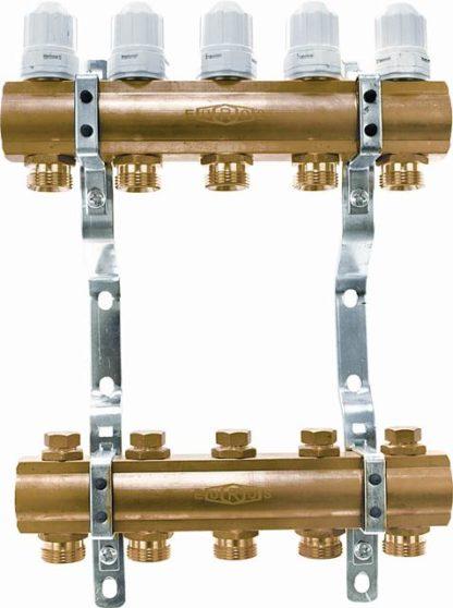 Блок коллекторный с запорными клапанами (EU.ST6079)