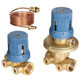 Автоматический регулятор перепада давлений в комплекте с запорно-регулировочным клапаном Valtec (VT.040.G)