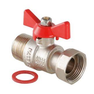Кран шаровой VALTEC BASE с накидной гайкой и наружной резьбой (VT.260.N)