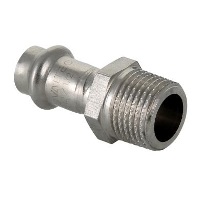 Пресс-фитинг из нержавеющей стали с наружной резьбой Valtec (VTi.901.I)