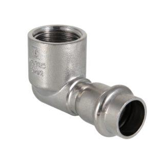 Фитинг из нержавеющей стали – пресс-угольник с внутренней резьбой Valtec (VTi.952.I)