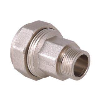 Фитинг ремонтный - фитинг обжимной для стальных труб с переходом на наружную резьбу Valtec (VTr.801.N)